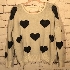 Miracle USA Heart Sweater Boutique Open Back M/L